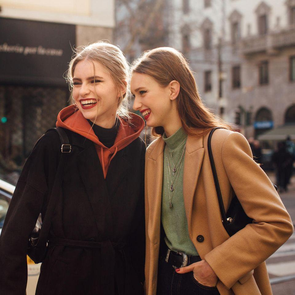 Hairclips: Influencer auf der Mailänder Fashion Week, Fall/Winter 21