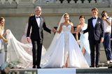 Brautkleider der Stars: Sylvie Meis und Niclas Castello