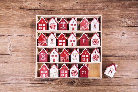 Nachhaltiger Adventskalender aus Holz