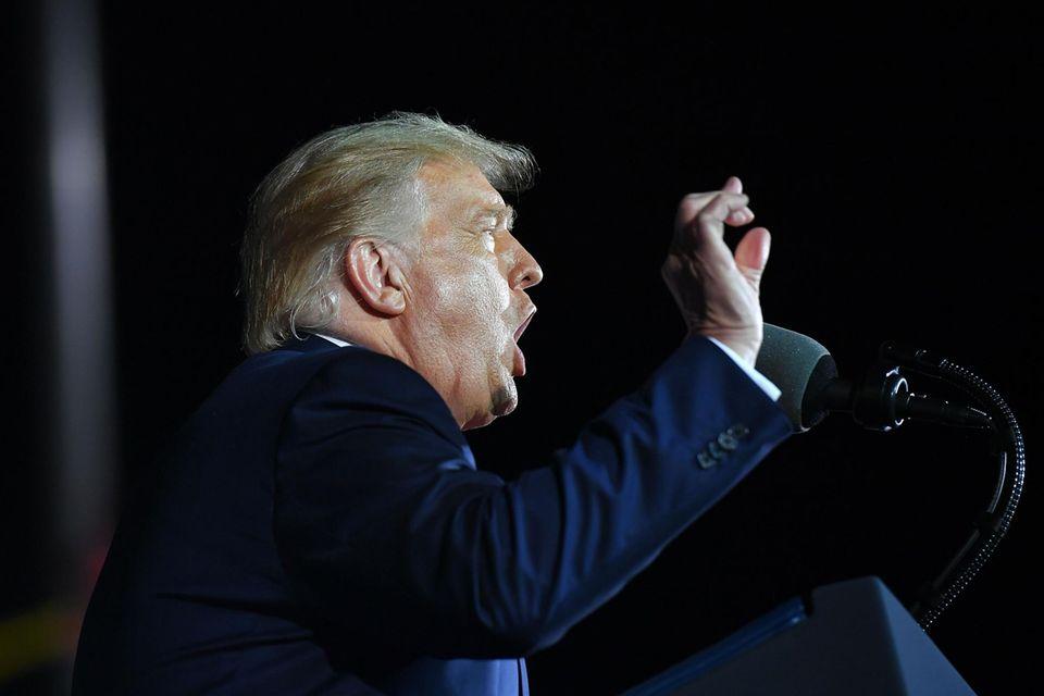 Donald Trump während einer Rede