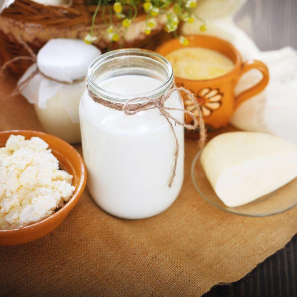 Kalzium: Milchprodukte