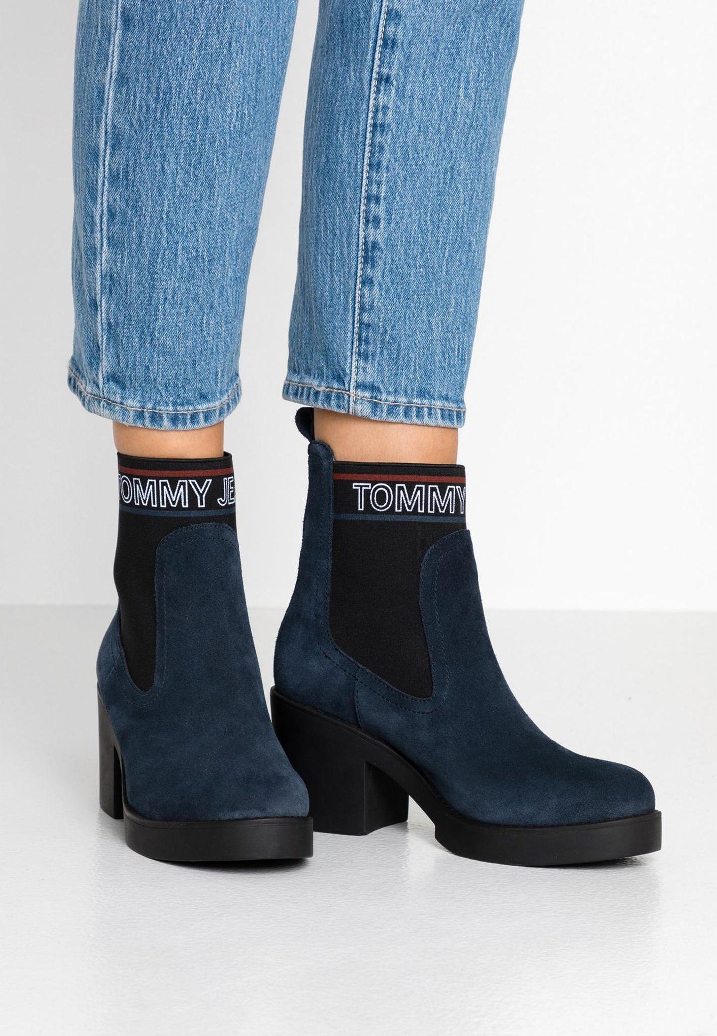 Blaue Stiefeletten von Tommy Jeans