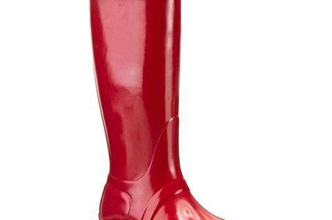 Herbst-Boots: Rote Gummistiefel