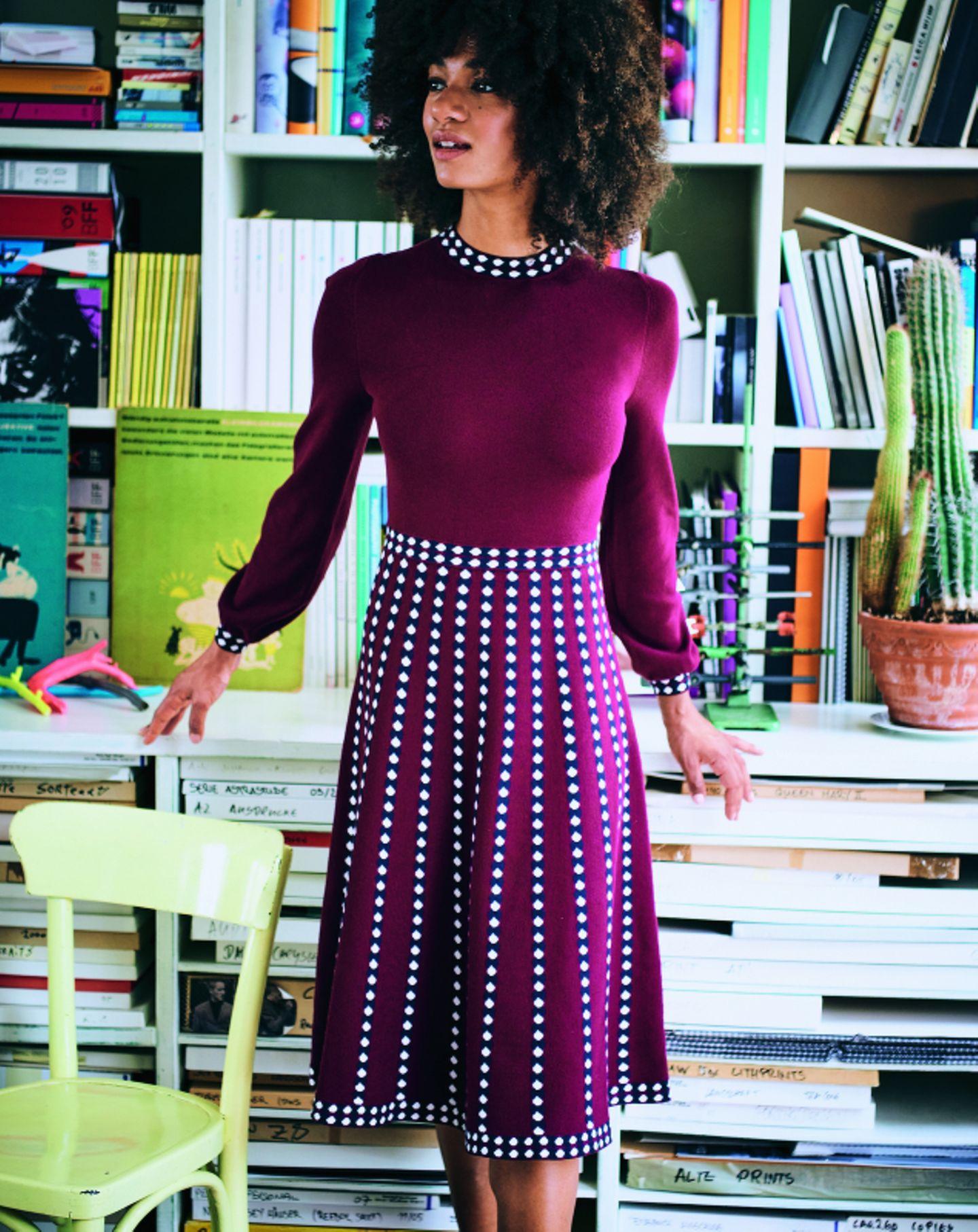 Schöne Kleider für jede Jahreszeit: Feinstrickkleid