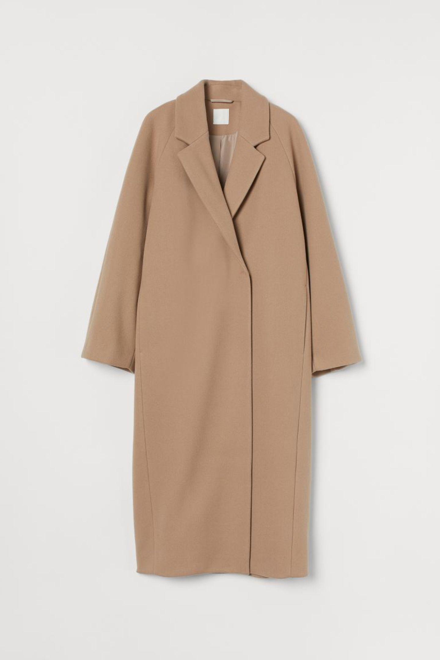 Mäntel unter 100 Euro: Wadenlanger Mantel von H&M
