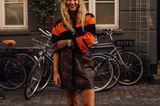Rock und Pollover kombi: Streetstyle Fashionweek