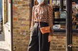 Streetstyle Fashionweek: London Leobluse mit weiter Hose