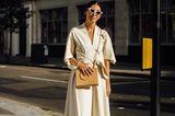 Streetstyle Fashionweek: Weites weißes Kleid