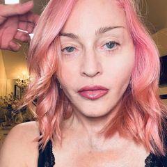 Vorher-Nachher: Madonna mit rosa Haaren