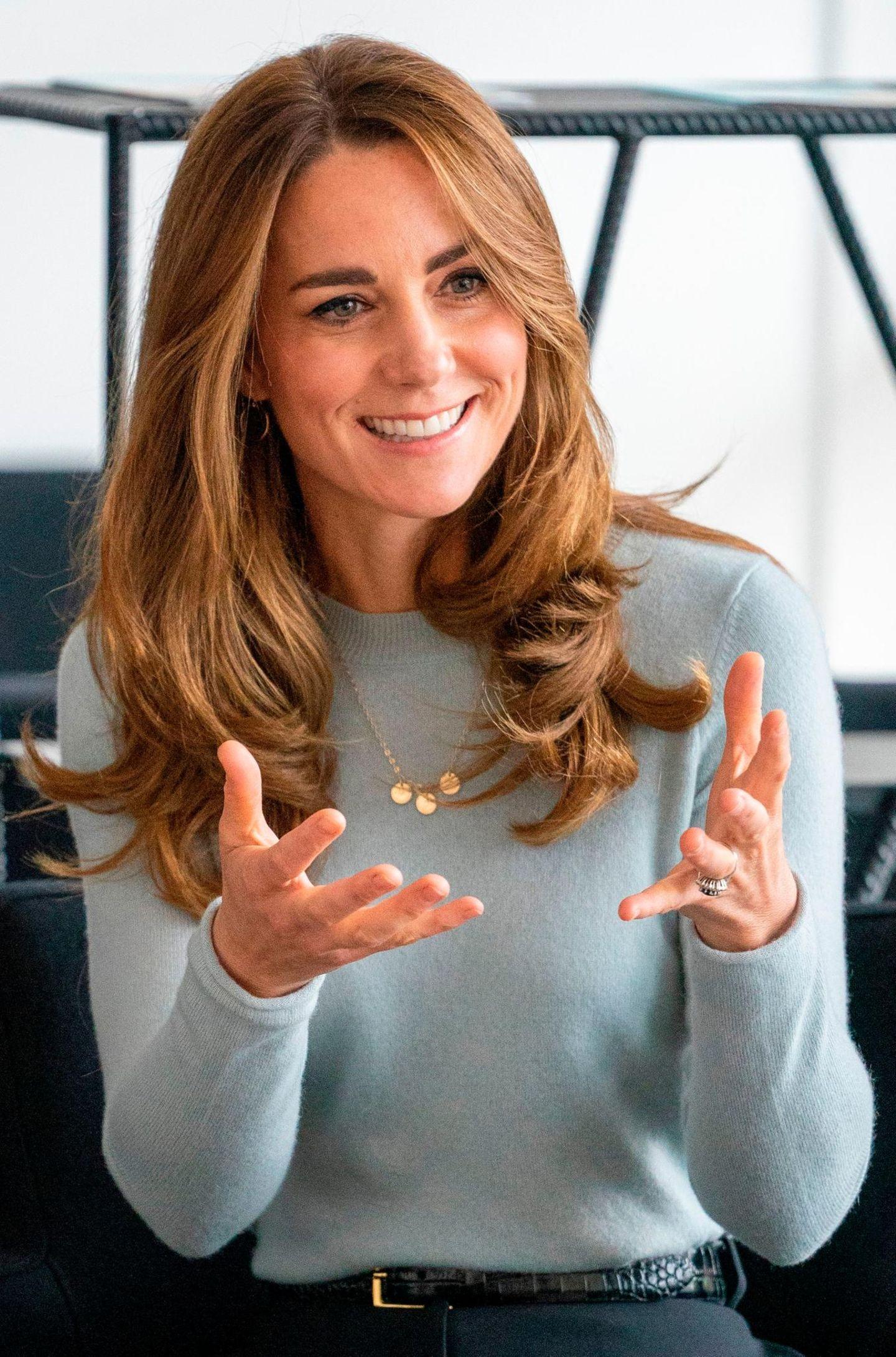 Schmuck der Royals: Herzogin Kate mit Initialienkette