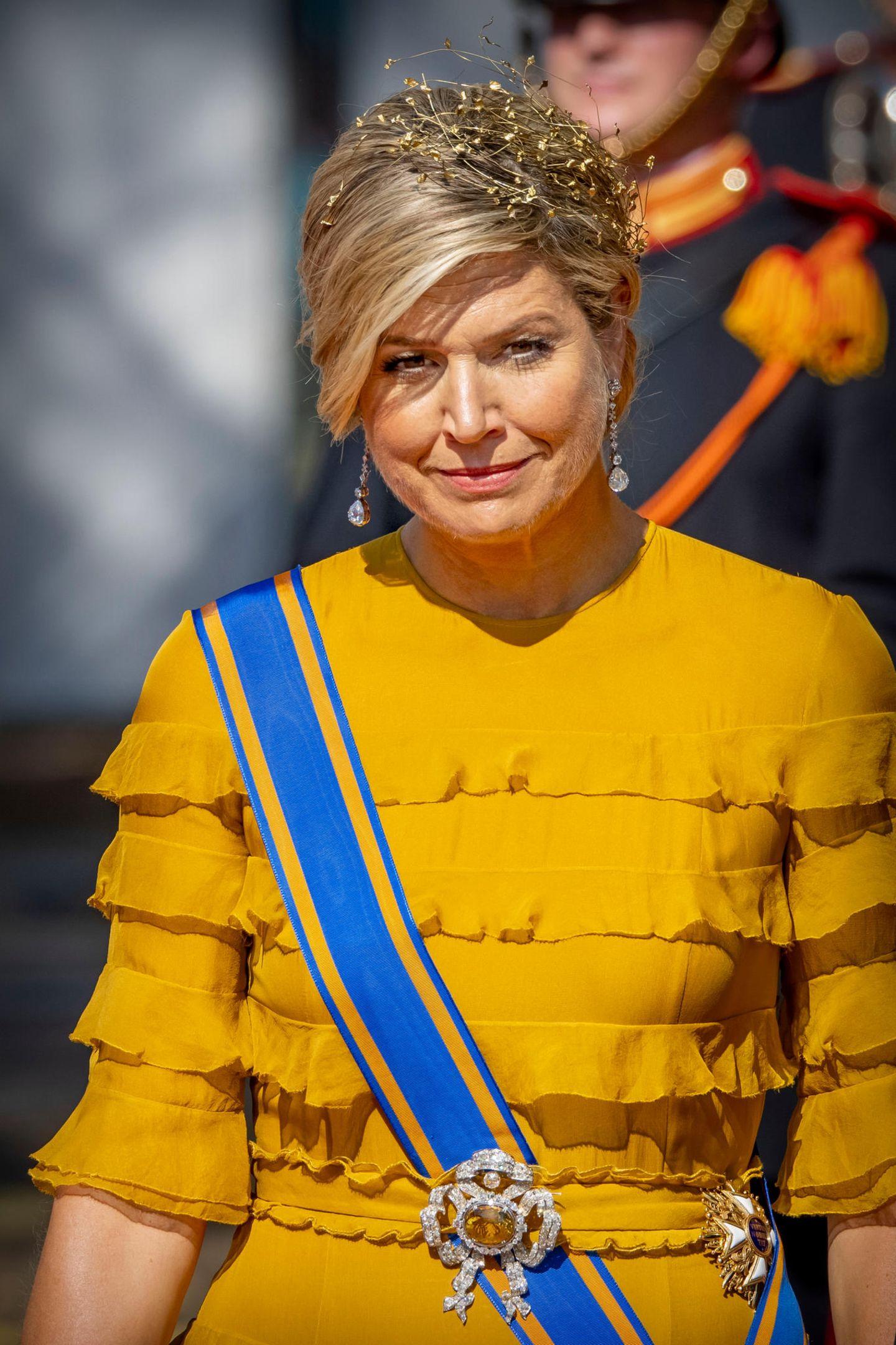 Schmuck der Royals: Königin Maxima mit Haarschmuck