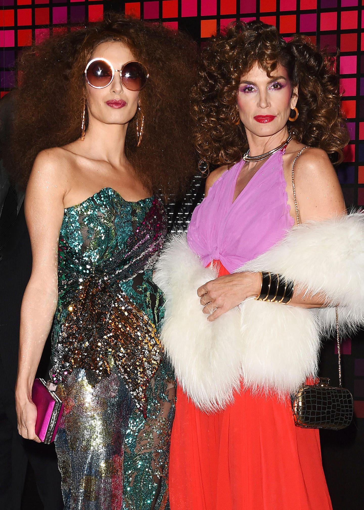 Halloween-Kostüm von Amal Clooney und Cindy Crawford