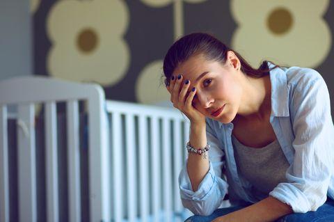 Mütter-Studie: Erschöpfte Mutter