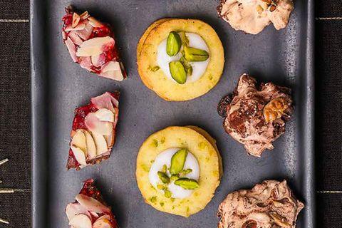 Pistazien-Taler mit Lemon Curd