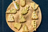 Butter-Mandel-Plätzchen mit Matcha-Ganache