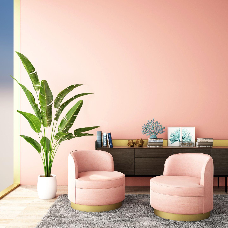 Wohntrend Blush: Zwei rorafarbene Sessel