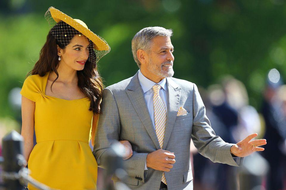 Kannten Harry + Meghan die Clooneys nicht vor der Hochzeit?