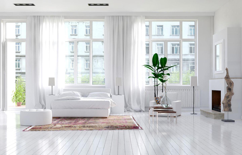 Wohntrend weiß: Weiß eingerichtetes Schlafzimmer