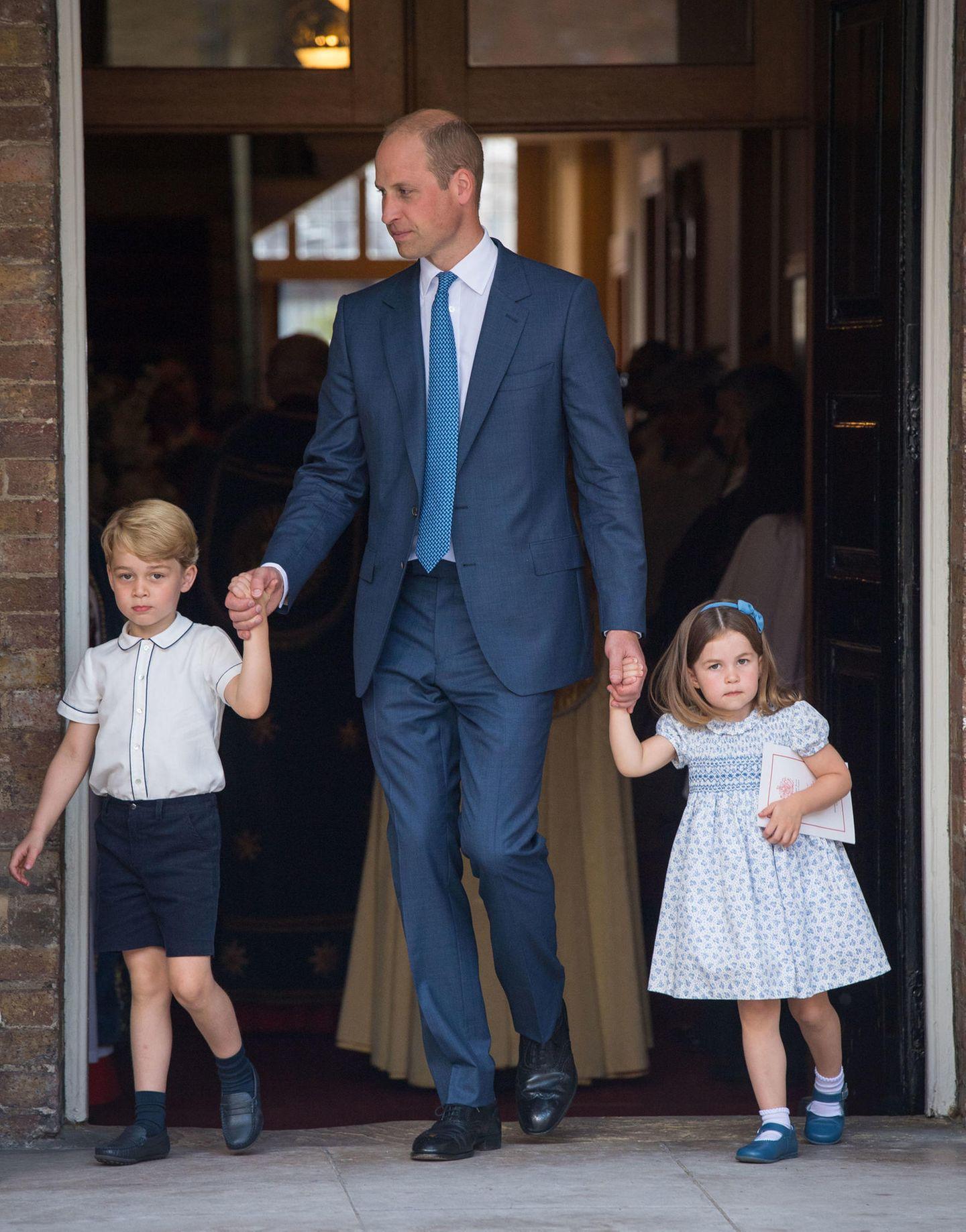Spitznamen der Royals: Prinz William mit Prinz George und Prinzessin Charlotte