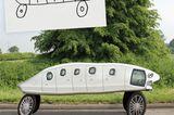 Kinderzeichnungen in der Realität: ein Auto