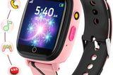 Kinder beschäftigen Autofahrt: Smartwatch in rosa