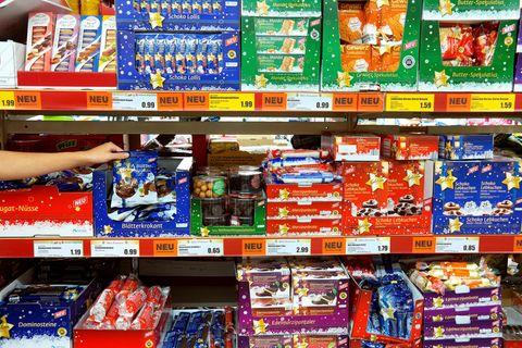 Rückruf: Weihnachtssüßigkeiten im Supermarkt