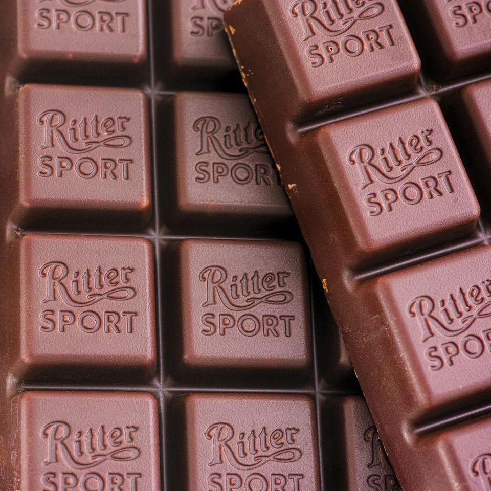 Markennamen: Ritter-Sport-Schokolade