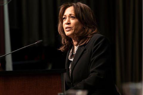 Kamala Harris: Die US-Vizepräsidentin bei einer Rede