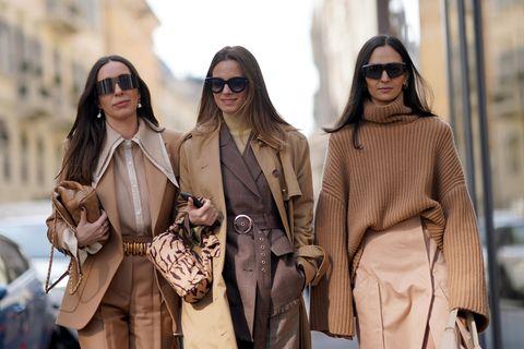 Winter-Trends: Drei Frauen auf der Fashion Week