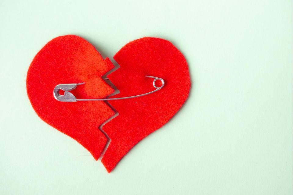 Filz-Herz mit Sicherheitsnadel