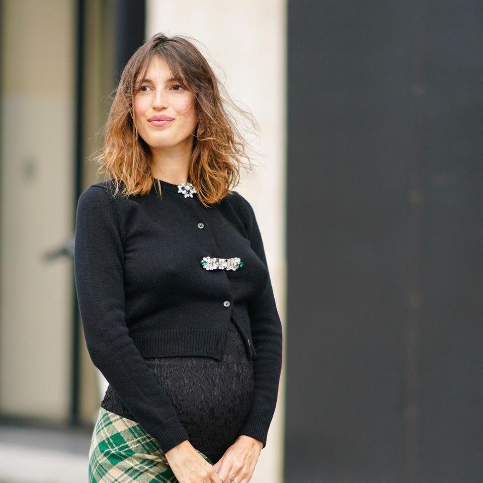 Französische Schwangerschafts-Looks