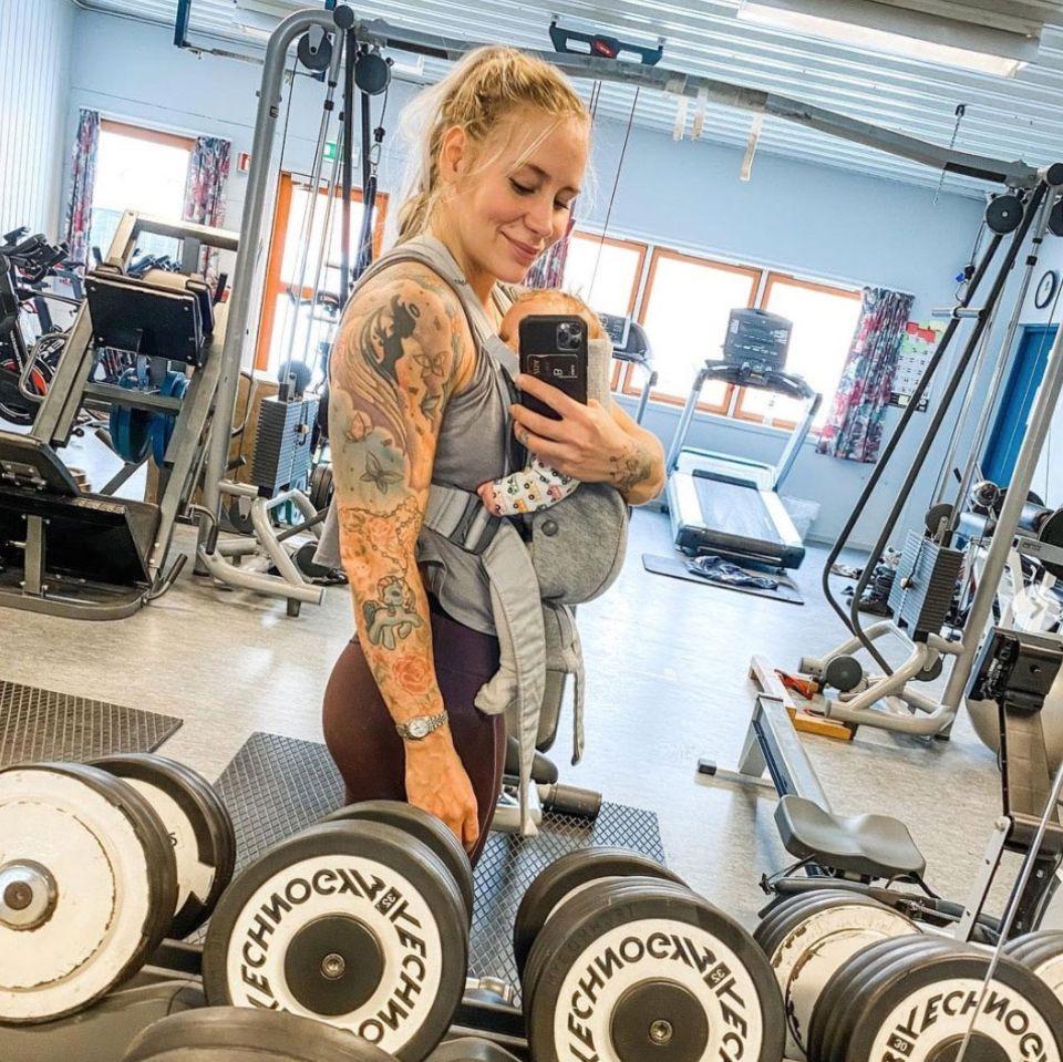 Helene Thorsen: Die Norwegerin Helene Thorsen im Gym