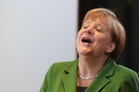 Merkel rettet lustigen Versprecher