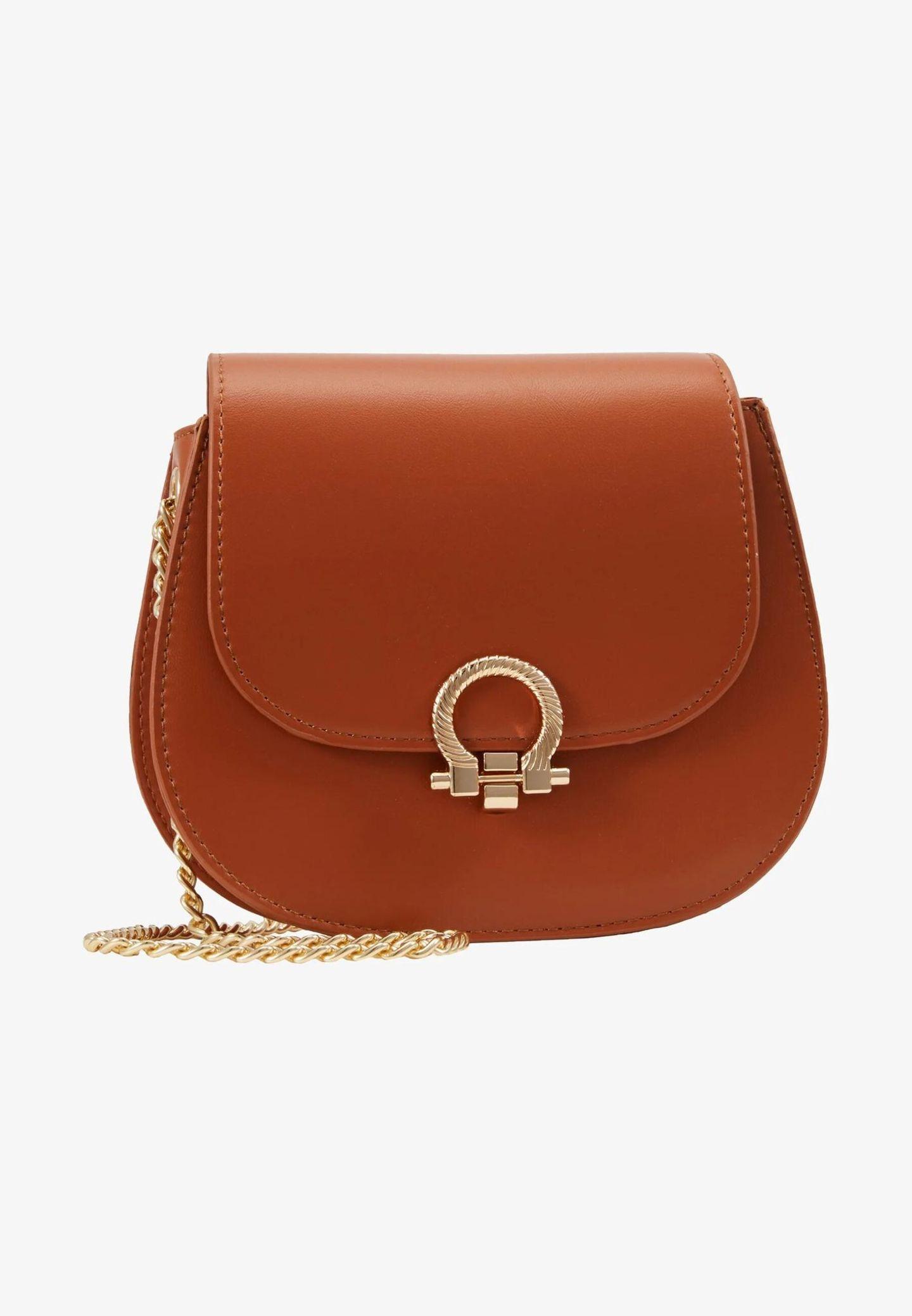 Crossbody-Bags: Pieces cognacfarbene Tasche