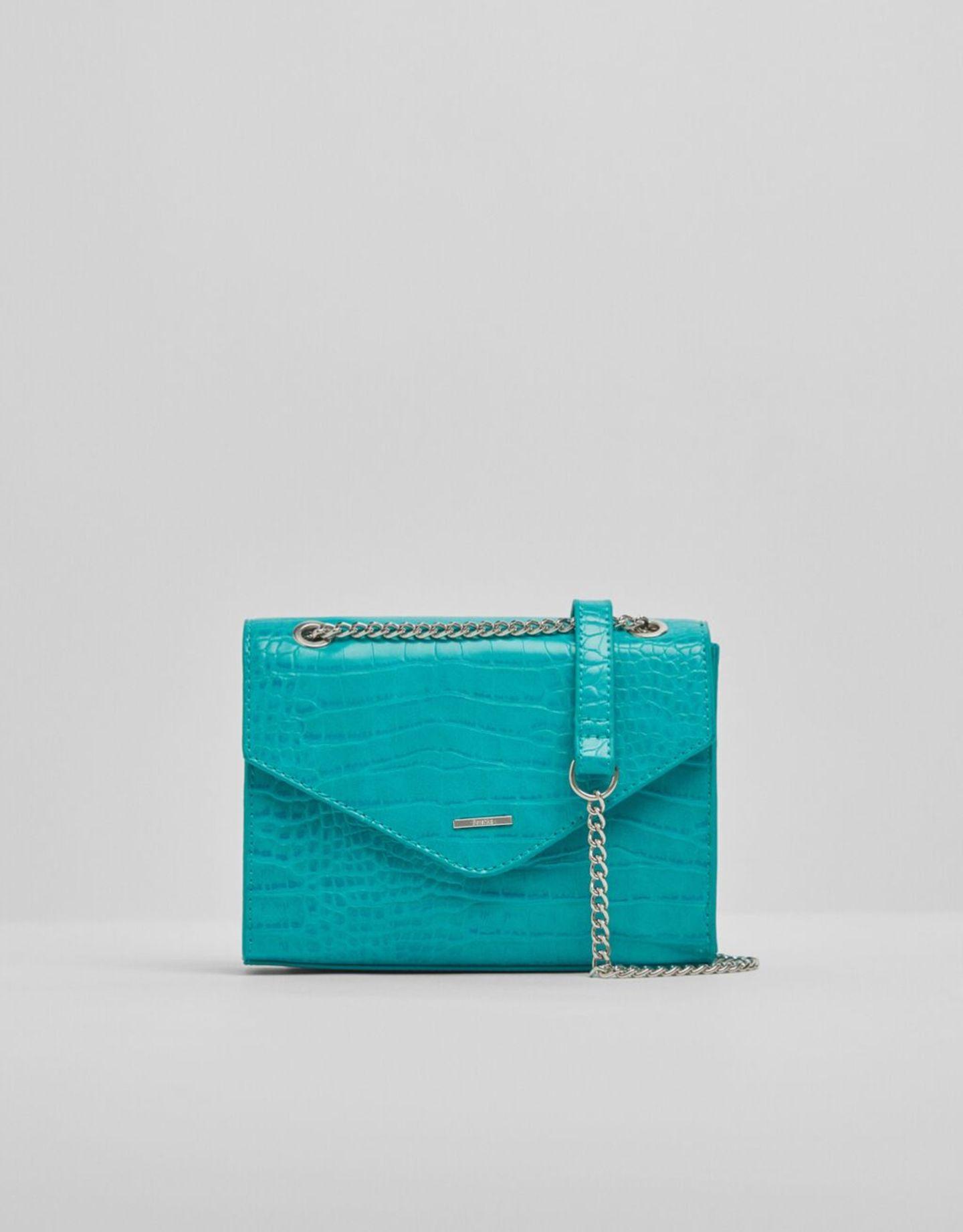 Crossbody-Bags: Bershka Tasche türkis