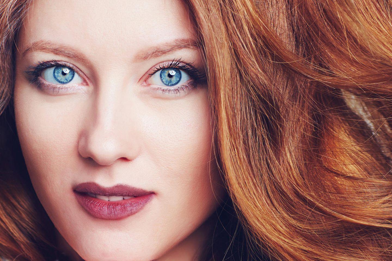 Mit augen haarfarben blauen für frauen Welche Haarfarbe