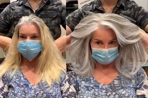 Friseur bringt Frauen dazu, ihre grauen Haare zu lieben
