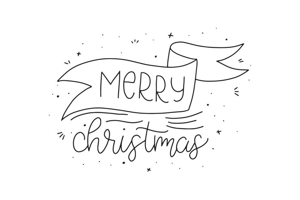 handlettering: schriftzug merry christmas