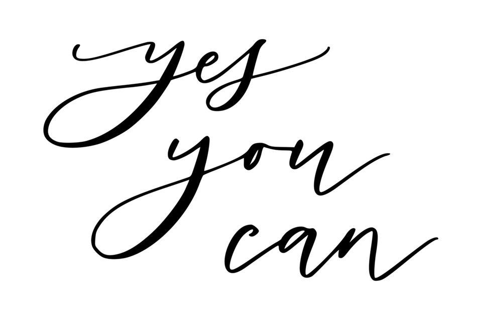handlettering: Schriftzug Yes you can