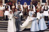 Promi-Brautkleider: Marie-Chantal Miller und Kronprinz Pavlos von Griechenland