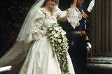 Promi-Brautkleider: Prinzessin Diana und Prinz Charles