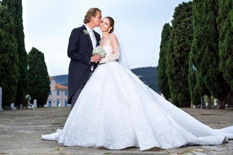 Promi-Brautkleider: Victoria Swarovski und Werner Mürz