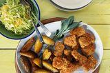 Geflügel-Nuggets mit Spitzkohlsalat