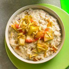 Bratapfel-Haferflocken-Porridge