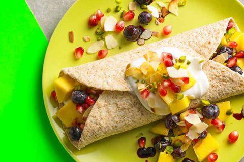 Frühstücks-Wrap mit Mango