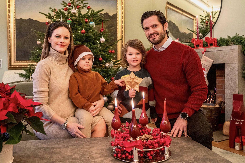 Weihnachten bei den Royals: Prinzessin Sofia, Prinz Carl Philip und Kinder