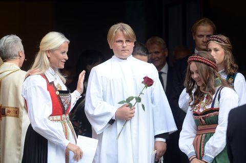 Mette-Marit und ihrer zwei Kinder