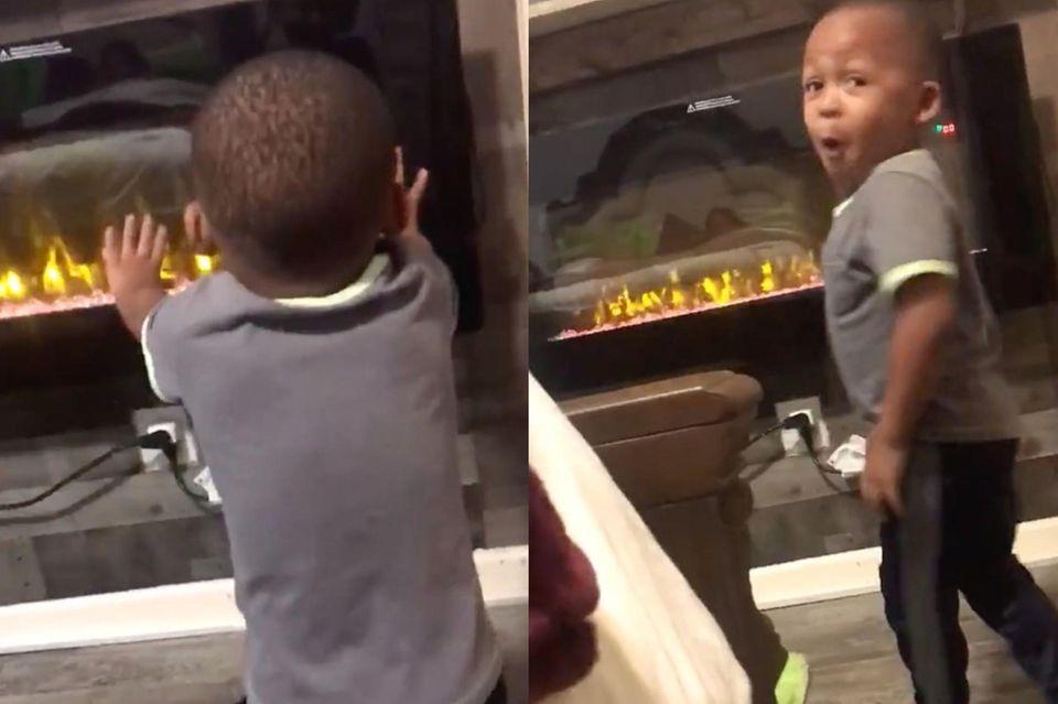 Kleiner Junge entdeckt seine Zauberkräfte