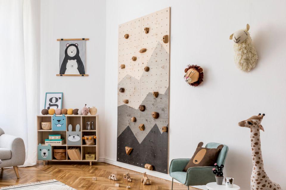 kinderzimmer gestalten: Kinderzimmer mit Kletterwand