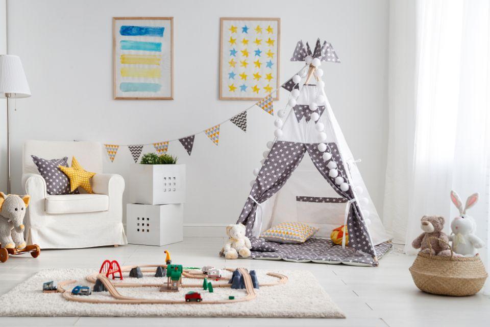 Kinderzimmer gestalten: Kinderzimmer mit Indoor-Zelt